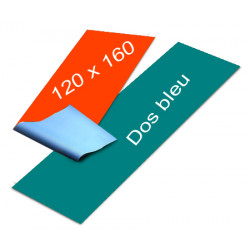 Affiches dos bleu 120 x 160