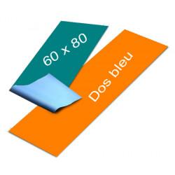 Affiches dos bleu 60 x 80