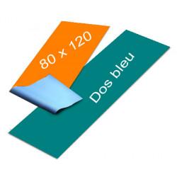 Affiches dos bleu 80 x 120