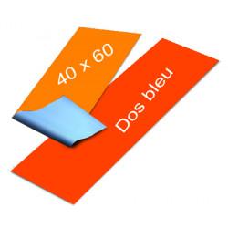 Affiches dos bleu 40 x 60