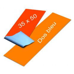 Affiches dos bleu 35 x 50