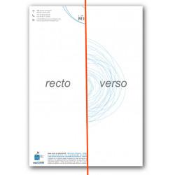 Exemple de tête de lettre avec une impression quadri au recto et verso.
